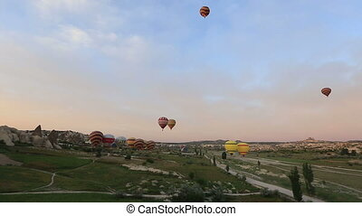 hot air balloon - time lapse air balloons tour in...