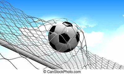 Goal score - Soccer goal scored.