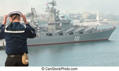 Moored marine force - Russian Black Sea Fleet marks 230th...