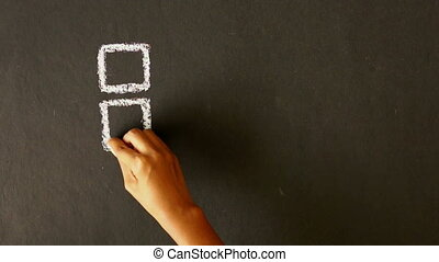 Social Media Marketing Chalk Drawin - A person drawing a...