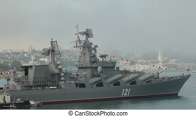 Moored marine force - Moored missile cruiser Moscow