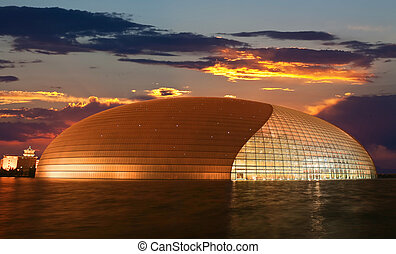 The newly opened Beijing National Theater Complex Giant Egg...