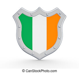 Coat of Arms with flag of Ireland.