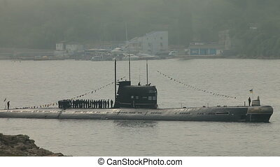Ukrainian submarine Zaporizhia. Celebration of the 230th...