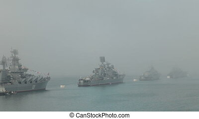 Russian naval parade in Sevastopol - Celebrating the 230th...