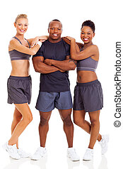 young healthy fitness people