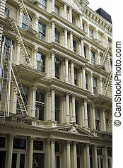 Historic buildings in New York Citys Soho District -...