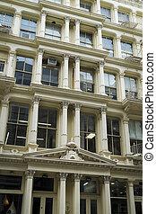 Historic buildings in New York City's Soho District -...