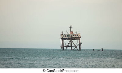 Oceanographic stationary platform in the Black Sea,...