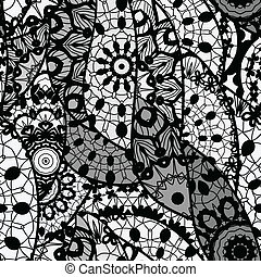 Lace vector fabric seamless pattern - Seamless pattern with...
