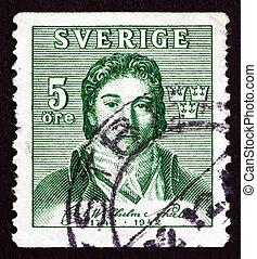Postage stamp Sweden 1942 Carl Wilhelm Scheele, Chemist -...
