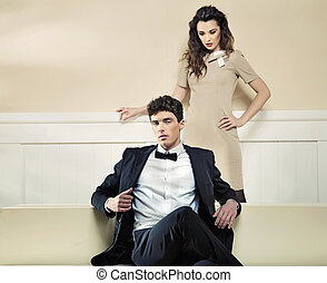 Loving couple in great pose - Loving young couple in great...