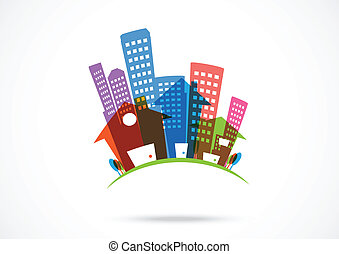 Abstract real estate Icon - Vector Illustration Of Abstract...