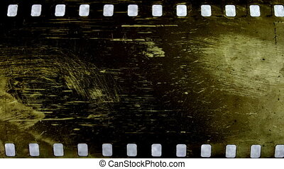 abstract grunge textures of universal film/academy leader...