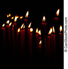 queimadura, velas