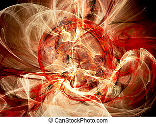 Ring of fire fantasy abstract background