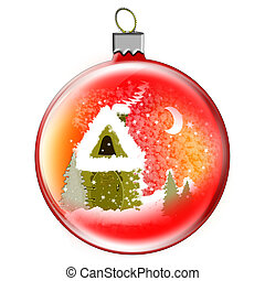 Christmas toy ball - Illustration Christmas toy ball and...