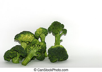 fresh brokoli on white - fresh green healthy brokoli...