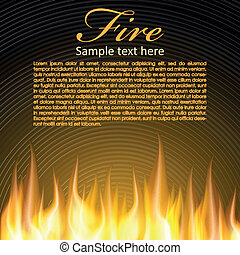 Fire background for your Design, Zip includes 300 dpi JPG,...