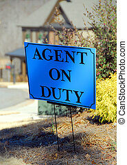 Agent on duty sign