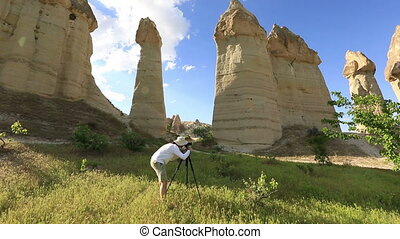 Cappadocia - Photographer shooting in nature