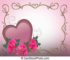 valentines, borda, Dia, fundo