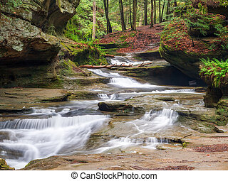 Old Mans Cave Middle Falls - The Middle Falls area at Old...