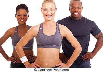 sporty man and women - attractive sporty man and women...