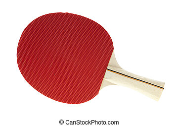 Table tennis racquet - Basic red table tennis racquet on...