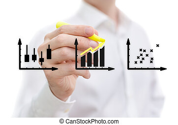 Stock analysis - Man performing a market stock analysis