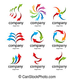 logo colored arrows