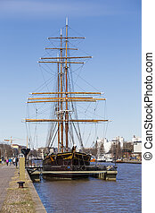 The three-masted barque Sigyn - barque Sigyn - the only...