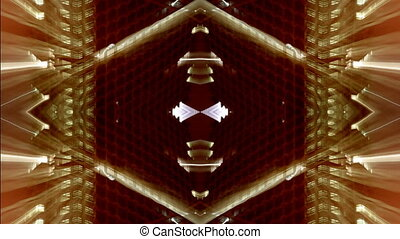 abstract pattern made from multiple shots of london at night