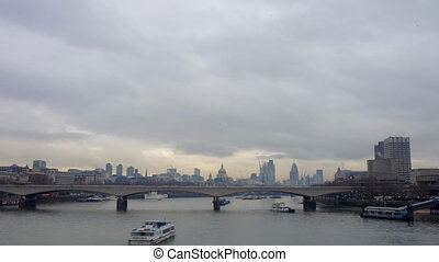 timelapse of london skyline