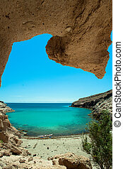 Paraside secret beach Sea of Cortez - Kayak in pristine...