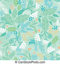 Spring berries seamless pattern background - Vertical spring...