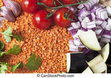 Vegetarian Curry Ingredients
