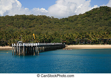 Long Island Wharf - Long Island wharf in the Whitsunday...