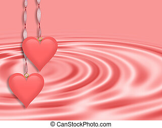 Valentines Day Background Pink Hear - Illustration...