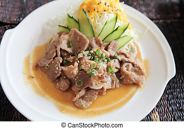 Japanese cuisine, Ginger pork