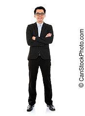 Asian business man full body