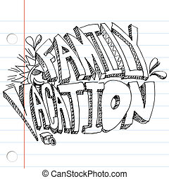 Family Vacation Drawing - An image of a family vacation...