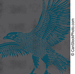 grunge background tribal tattoo eagle vector art