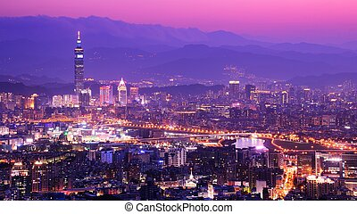 Neihu District of Taipei - Residential high rises and...