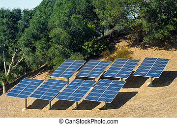 Home Power - Photovoltaic panels used to power a rural home.