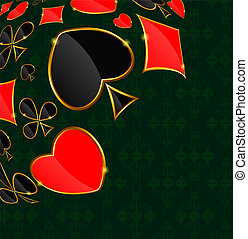 Abstract background with card suits for design. Vector...