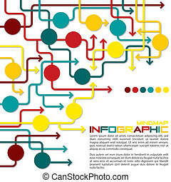 Infographic - Maze of arrows info graphicmindmapflowchart in...