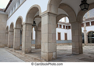 Archways in Evora, Portugal - Architectural stone archways...