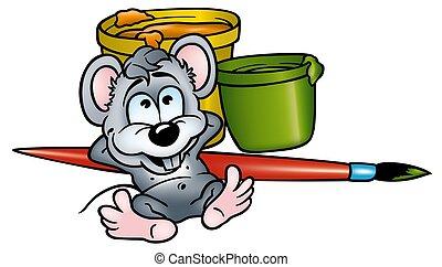 Maler und lackierer clipart  Maus maler Illustrationen und Stock Art. 1.677 Maus maler ...