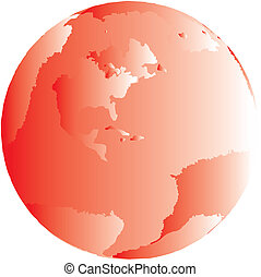 One Red Globe Vector